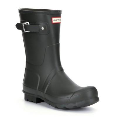 ハンター メンズ ブーツ&レインブーツ シューズ Men's Original Short Waterproof Rain Boots Dark Green