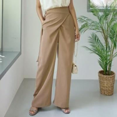 レディースファッションパンツ ワイドパンツ 大きいサイズ 体型カバー