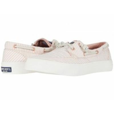 Sperry スペリー レディース 女性用 シューズ 靴 スニーカー 運動靴 Crest Boat Seersucker Coral/White【送料無料】