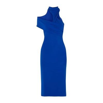 クシュニー・エ・オクス CUSHNIE 7分丈ワンピース・ドレス ブライトブルー 0 レーヨン 85% / ナイロン 9% / ポリウレタン 6%