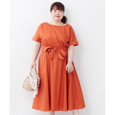 【大きいサイズ】 インスタでアンケートみんなで作る綿100%共布リボン付ロングワンピース ワンピース, plus size dress