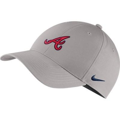 ナイキ 帽子 アクセサリー メンズ Nike Men's Atlanta Braves Dri-FIT Performance Legacy91 Primary Logo Cap Pewter Gray