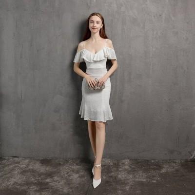 パーティードレスイブニングドレス可愛い安いキャバフィッシュテールセクシーナイトクラブ