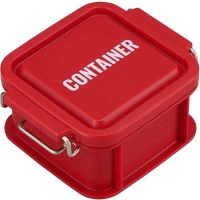 オーエスケー 弁当箱 レッド 容量:約300ml ランチチャイム コンテナ ランチボックス SS CNT-300