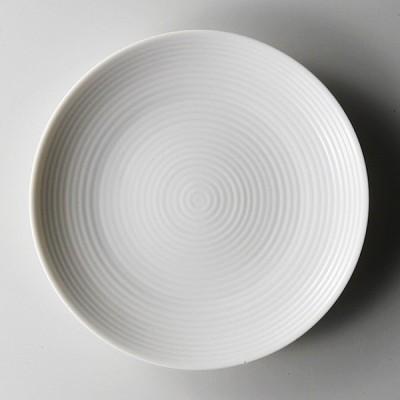 日本製 ミート皿 デザート皿 ステージ 18中皿  取り皿 ライス パン 白磁 業務用 cd-7137