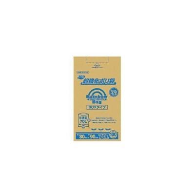 レインボーバッグ(超強化ポリ袋) 半透明 70L 100枚 品番:RB-N70-100 注文番号:59671831 メーカー:オルディ