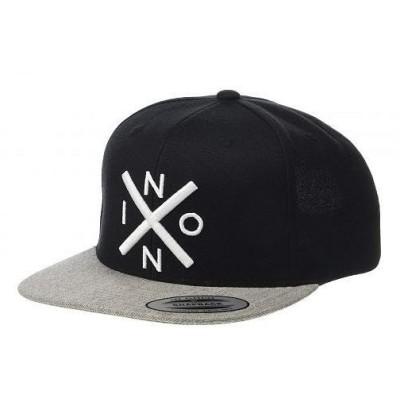 Nixon ニクソン メンズ 男性用 ファッション雑貨 小物 帽子 野球帽 キャップ Exchange Snap Back Hat - Black/Heather Gray