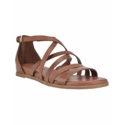 ナインウェスト レディース サンダル シューズ Women's Cealiah Strappy Flat Sandals Brown Croco