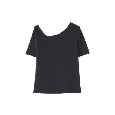 FREE'S MART / ◆三角テレコアシメネック半袖カットソー WOMEN トップス > Tシャツ/カットソー