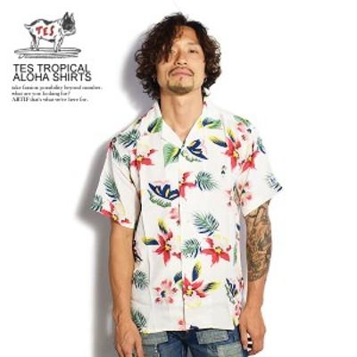 The Endless Summer エンドレスサマー TES TROPICAL ALOHA SHIRTS メンズ シャツ 半袖 アロハシャツ ストリート 送料無料 tes atftps