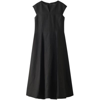 ADORE アドーア BLACKボンディング麻ノースリーブドレス レディース ブラック 36