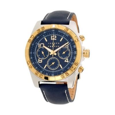 腕時計 ジョセフ アブード Joseph Abboud Navy Dial Leather Strap Men's Watch JA3219S648-104