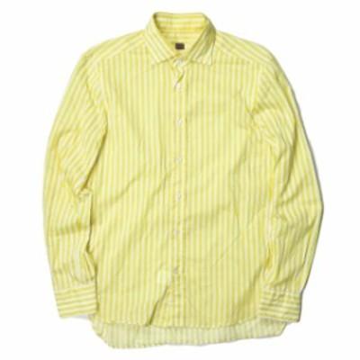 MP di Massimo Piombo エムピー ディ マッシモピオンボ ロンドンストライプレギュラーカラーシャツ 39(15 1/2) イエロー 長袖