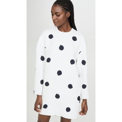 ティビ Tibi レディース ワンピース シフトドレス ワンピース・ドレス Sculpted Shift Dress White/Black Multi