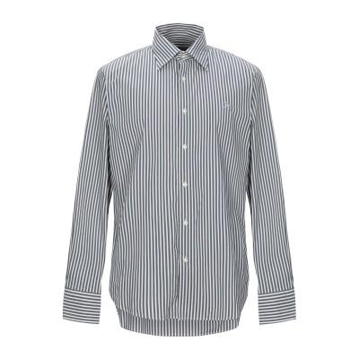 CARLO CHIONNA シャツ グレー 52 コットン 73% / ナイロン 24% / ポリウレタン 3% シャツ