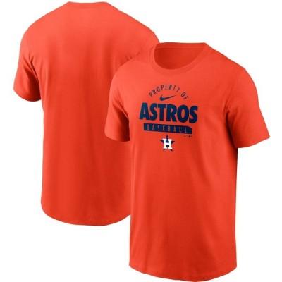 ヒューストン・アストロズ Nike Primetime Property Of Practice T-シャツ - Orange