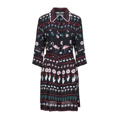 VIVETTA ミニワンピース&ドレス ブラック 40 レーヨン 100% ミニワンピース&ドレス