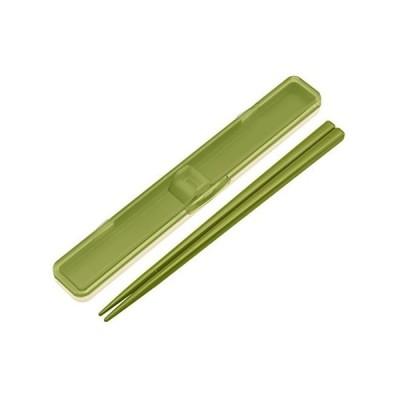 箸 箸箱 セット 18cm レトロフレンチ グリーン ABC3 スケーター(SKATER)