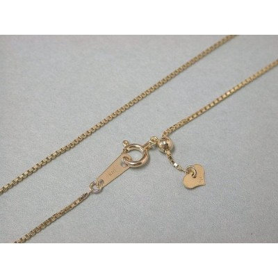 K10 ネックレスチェーン ゴールド ネックレス チェーン スライダーチェーン イエローゴールド 10K 10金 金無垢 40cm ベネチアンチェーン 幅0.8mm