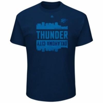 Majestic マジェスティック スポーツ用品  Majestic Oklahoma City Thunder Navy Capacity Crowd Triple Peak T-Shirt