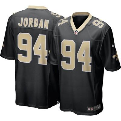 ナイキ Nike メンズ トップス New Orleans Saints Cameron Jordan #94 Black Game Jersey