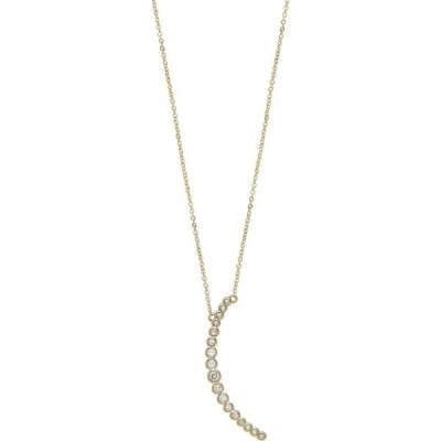 エティカ ETTIKA ユニセックス ネックレス ジュエリー・アクセサリー Waning Crystal Crescent Moon Necklace Gold