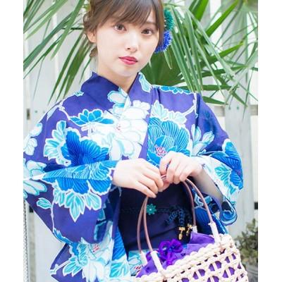 【シルバーバレット】 Dita1人で簡単に着られる作り帯の可愛い女性浴衣 4点フルセット(ゆかた・作り帯・下駄・着付けカタログ) レディース ホワイト FREE(フリーサイズ) SILVER BULLET