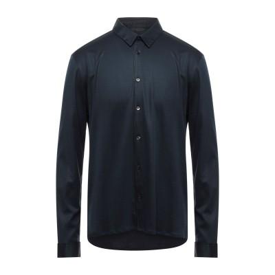 ジョン・バルベイトス JOHN VARVATOS シャツ ダークブルー XS コットン 60% / レーヨン 40% シャツ