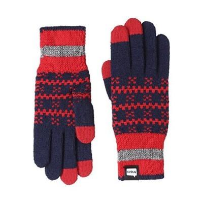 エヴォログ 手袋 LET 2510 メンズ NAVY x RED x GRAY 日本 フリーサイズ-(FREE サイズ)