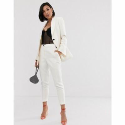 エイソス ASOS DESIGN レディース スキニー・スリム ボトムス・パンツ pop slim suit trousers ホワイト