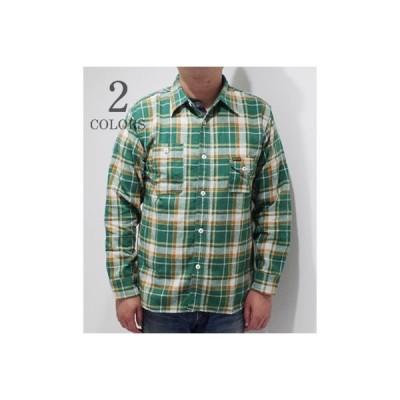 フェローズ 長袖 チェックワークシャツ PHERROW'S ライトウェイトネルシャツ 20W-750WS-C