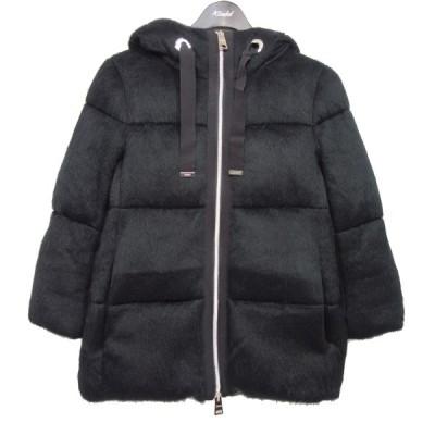 【1月25日値下】HERNO エコファーフーデッドジャケット ブラック サイズ:38 (京都店)