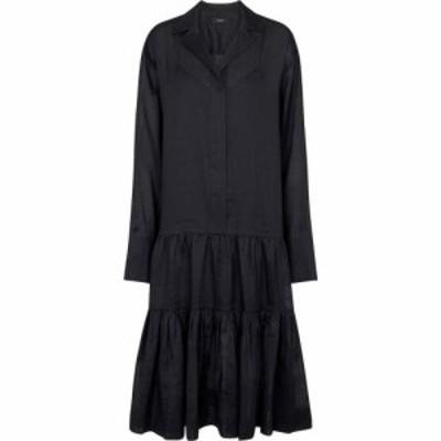 ジョゼフ Joseph レディース ワンピース シャツワンピース ワンピース・ドレス Dan ramie shirt dress Black