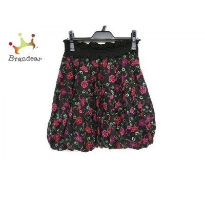 トッカ バルーンスカート サイズ0 XS レディース 新品同様 黒×レッド×グリーン 花柄/刺繍 新着 20200711