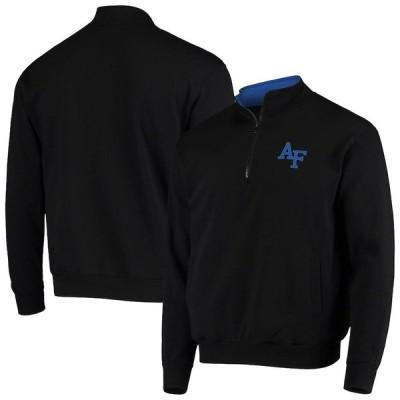"""メンズ ジャケット """"Air Force Falcons"""" Colosseum Tortugas Logo Quarter-Zip Jacket - Black"""