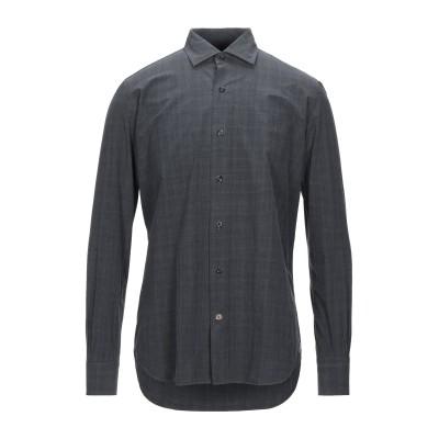 MAZZARELLI シャツ スチールグレー 40 コットン 100% シャツ