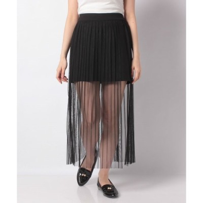 【ウィゴー】WEGO/シアーチュールレイヤードロングスカート