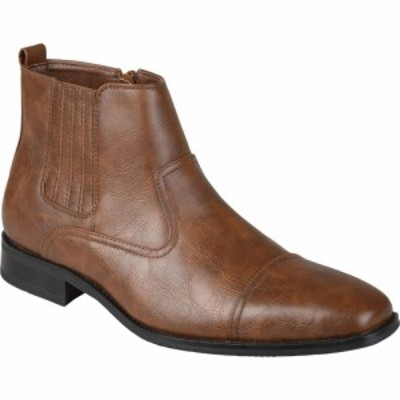 バンス Vance Co. メンズ ブーツ チェルシーブーツ シューズ・靴 Alex Chelsea Boot Brown Faux Leather