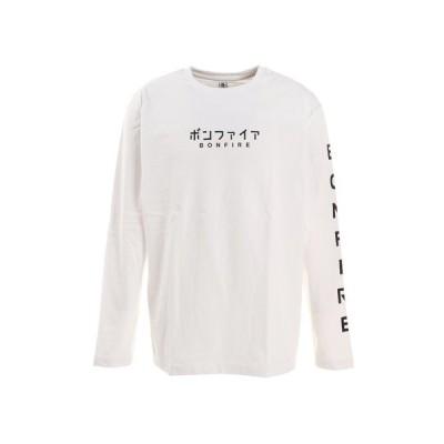 ボンファイア(Bonfire) KANA HC 長袖Tシャツ 50BNF1SCD2161 WHT (メンズ)