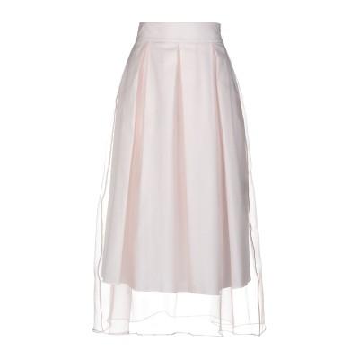 アレッサンドロデラクア ALESSANDRO DELL'ACQUA 7分丈スカート ライトピンク 38 ポリエステル 100% 7分丈スカート