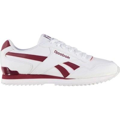 リーボック Reebok メンズ スニーカー シューズ・靴 Royal Glide Ripple Clip Trainers White/Burgundy