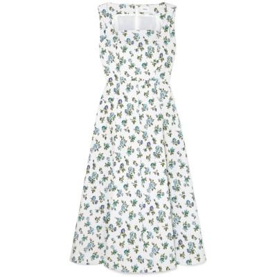アーデム ERDEM 7分丈ワンピース・ドレス ホワイト 10 コットン 98% / ポリウレタン 2% 7分丈ワンピース・ドレス
