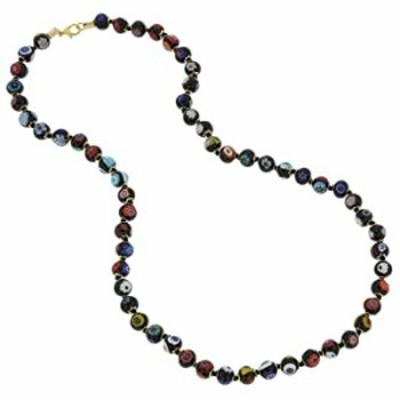 GlassOfVenice Murano Glass Mosaic Long Necklace - Black