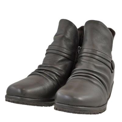 レディース 靴 ブーツ マドラス シティーゴルフ シャーリング加工 サイドファスナー ショートブーツ 送料無料 ダークブラウン GFL20061DBR