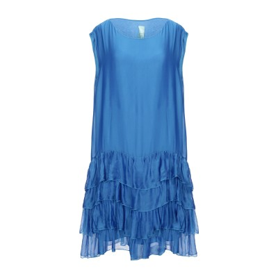 IL THE' DELLE 5 ミニワンピース&ドレス ブルー 42 レーヨン 70% / シルク 30% ミニワンピース&ドレス
