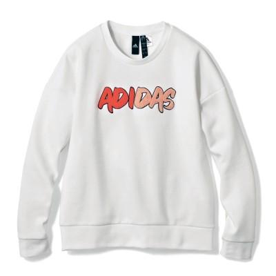 ロゴサガラ刺繍スウェット(アディダス/adidas)