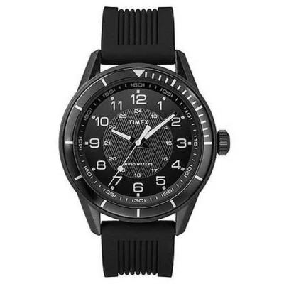 腕時計 タイメックス Timex T2P383 メンズ Elevated クラシックス ガンメタルシリコン バンド アナログ 腕時計