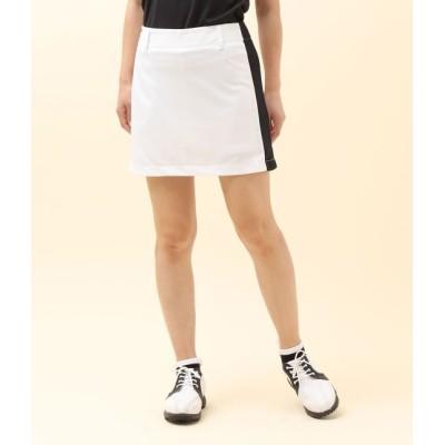 ジュン アンド ロペ/サイドロゴカラーブロックAラインスカート/ホワイト/L