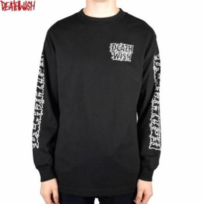 デスウィッシュ DEATHWISH スケボー ロングTシャツ SLIME TIME L/S TEE 長袖 ブラック NO2