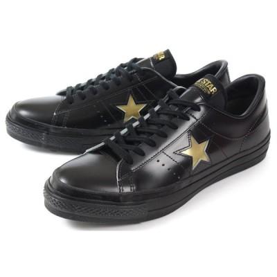 converse(コンバース) ONE STAR J(ワンスター J) 35200060 ブラック/ゴールド